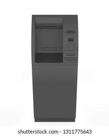 ATM Bank Cash Machine Isolated on white background - 3d Illustration