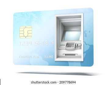 Atm machine in credit card