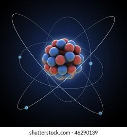 Atom - computer generated illustration
