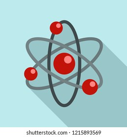 Atom icon. Flat illustration of atom icon for web design