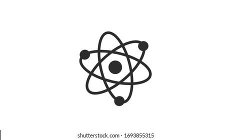 Atom icon on white background,atom symbol, chemistry & science research