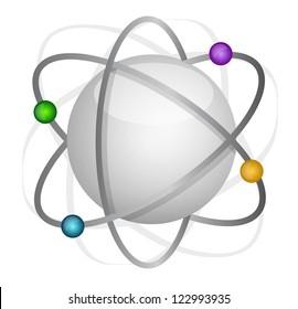 atom illustration design over a white background