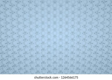 atomic grid hexagonal abstract 3d background with many hexagons - Illustration