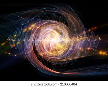 Atomic series. Interplay of lights and fractal elements on the subject of quantum mechanics, particle physics and energy.