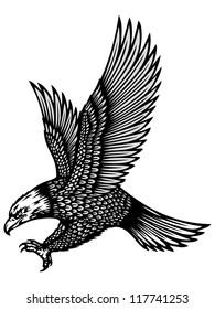 attacking eagle illustration