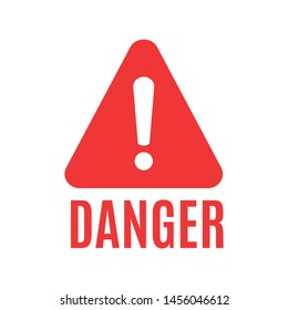 Attention please badge or banner. Danger sign design. Caution error icon