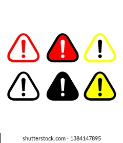 Attention Warning Sign Single Icon