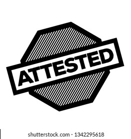 attested stamp on white