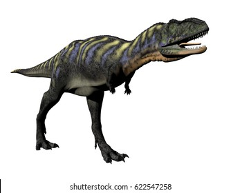 aucasaurus dinosaur in white background - 3D rendering