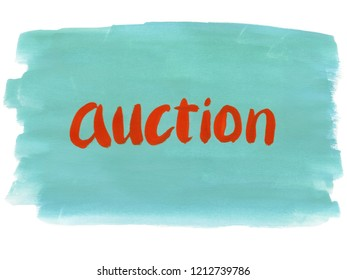 auction concept word
