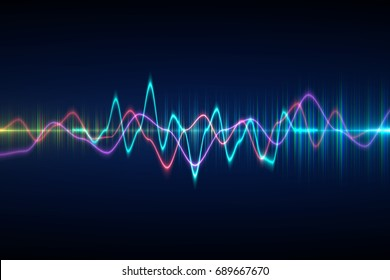 Audio Digital Equalizer Technology Pulse Musicalabstract Of Sound Wave Light Frequencies Or