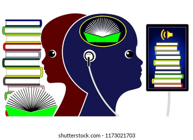 Audiobooks versus Reading. Listening to a audible book compared to traditional reading in early childhood education