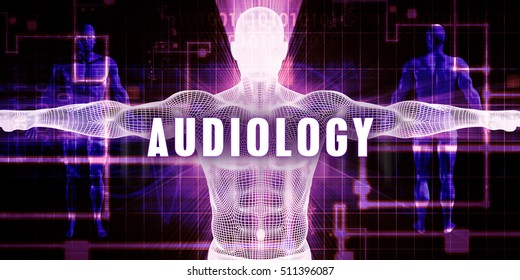 Audiology as a Digital Technology Medical Concept Art 3d Illustration Render