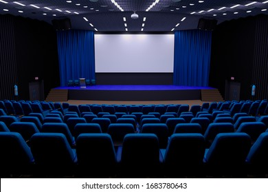auditorium cinema room scene, 3d illustration