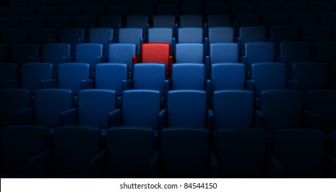 auditorium with one reserved seat