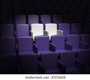 auditorium with two reserved seats