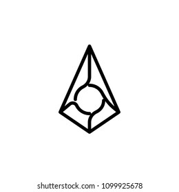 augur debit card icon. Element of Crypto currency icon for mobile concept and web apps. Detailed augur debit card icon can be used for web and mobile. Premium icon on white background