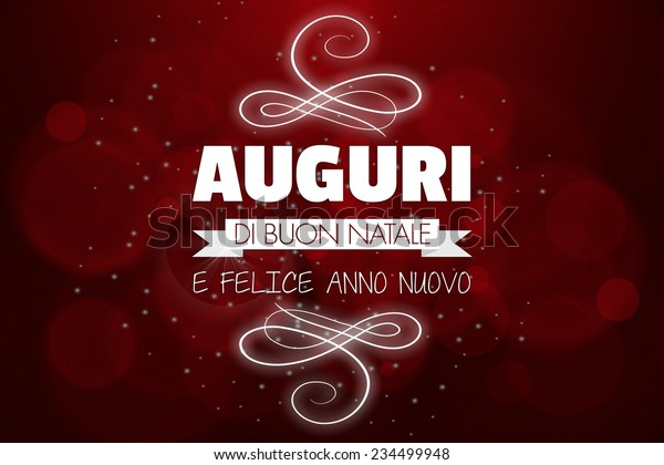 Auguri Di Buon Natale Merry Christmas.Auguri Di Buon Natale Merry Christmas Stock Illustration 234499948