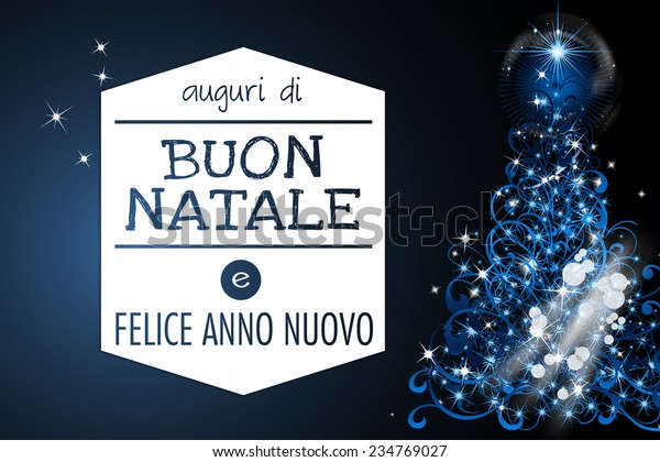 Auguri Di Buon Natale Merry Christmas.Auguri Di Buon Natale Merry Christmas Stock Illustration 234769027