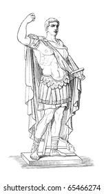 Augustus aka Octavianus aka Gaius Julius Caesar Augustus, the first Roman emperor.