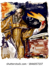 Aurelius Augustine, or Augustine the Blessed, is a Christian theologian and philosopher, an influential preacher, Bishop of Hippo, one of the Fathers of the Christian Church.