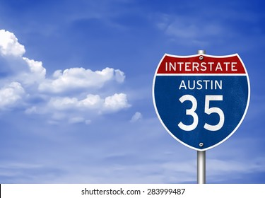 Austin, Texas - road sign concept