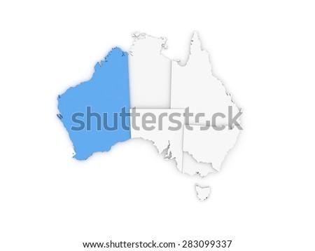 Free 3d Map Of Australia.Australia 3 D Map Stock Illustration Royalty Free Stock