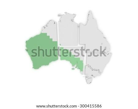 Free 3d Map Of Australia.Australia 3 D Map Stock Illustration 300415586 Shutterstock