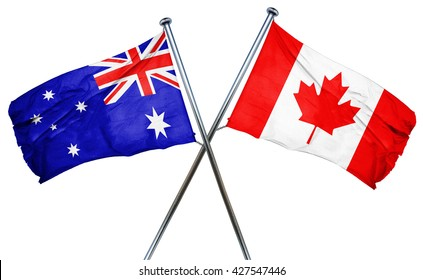 Australia flag  combined with canada flag