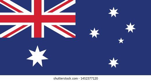 Australia Flag illustration,textured background, Symbols of Australia