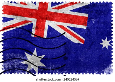 Australia Flag - old postage stamp