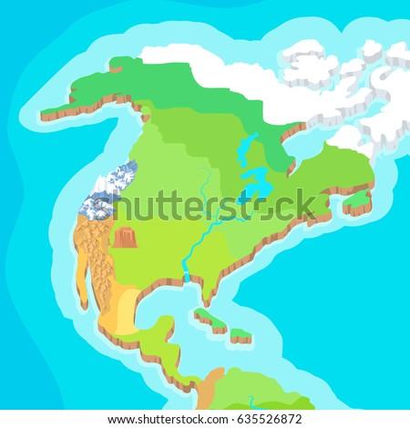 Australia Map Mountains.Australia Mainland Cartoon Relief Map Mountains Stock Illustration