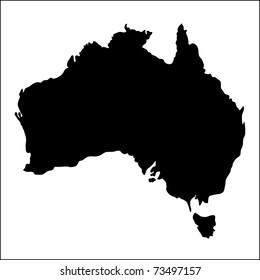 Australia map, illustration
