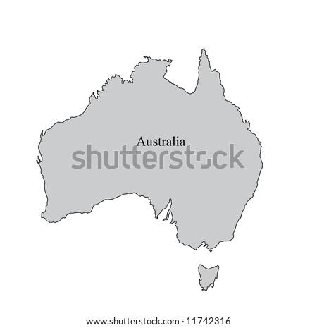 Australia Map Grey.Australia Map Outline Map Australia Grey Stock Illustration 11742316