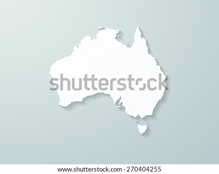 Australia Map Shape.Australia Map Shape Stock Illustration 270404255 Shutterstock