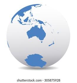 New Zealand Global Map.Australia New Zealand Map Images Stock Photos Vectors Shutterstock