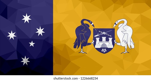 Australian Capital Territory polygonal flag. Mosaic modern background. Geometric design