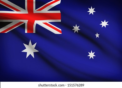 Australian flag blowing in the wind. Part of a series.
