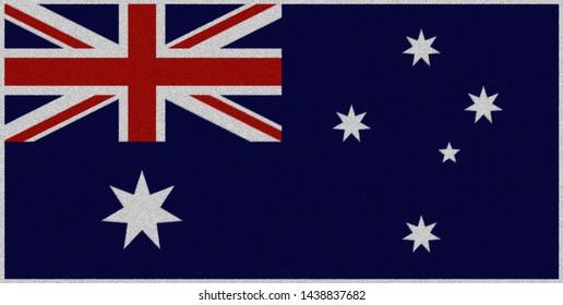 australian flags on carpet image