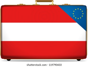 Austria Flag on Luggage, Citizenship of the European Union