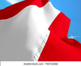 Austrian flag. 3D Waving flag design. Red and white flag. The national symbol of Austria. Austrian National colors. National sign of Austria for a background flag on smooth silk hd wallpaper