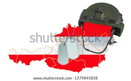 Austrian Military Force Army War Concept Stock Illustration