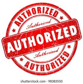 Authorized grunge stamp