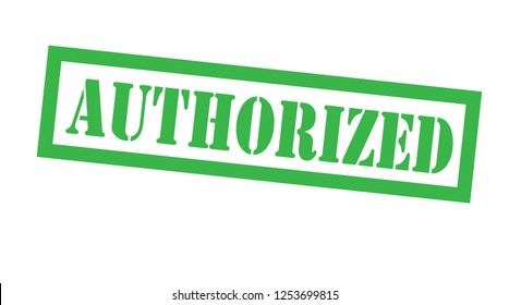 authorized stamp on white background. Sign, label, sticker.