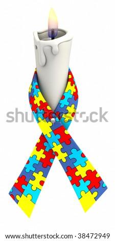 autism awareness ribbon puzzle piece pattern stock illustration