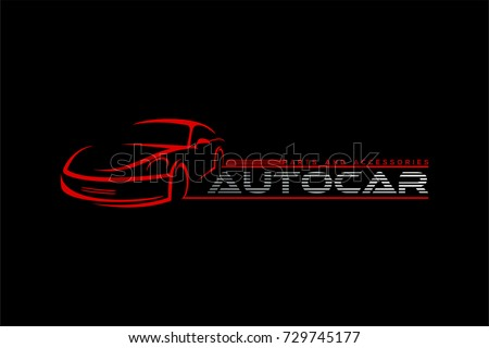 Auto Car Logoparts Accessories Car Logo Stock Illustration Royalty
