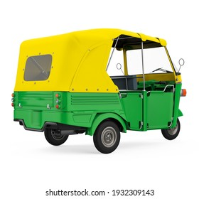 Auto Rickshaw Isolated. 3D rendering