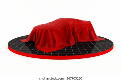 Auto show unveiling of a new car