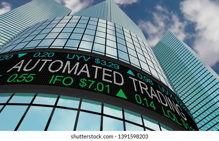 Automated Trading Systems Wall Street Stock Market 3d Illustration