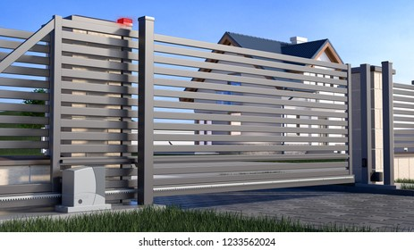 Sliding Gate Images Stock Photos Vectors Shutterstock